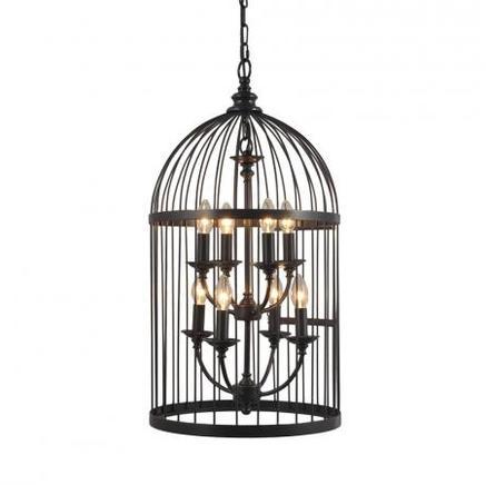 Светильник потолочный MEDIUM BIRDCAGE CHANDELIER Gramercy Home CH008-8-ABG