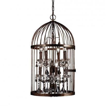 Светильник потолочный MEDIUM BIRDCAGE CRYSTAL CHANDELIER Gramercy Home CH008-8-ABG-CRS