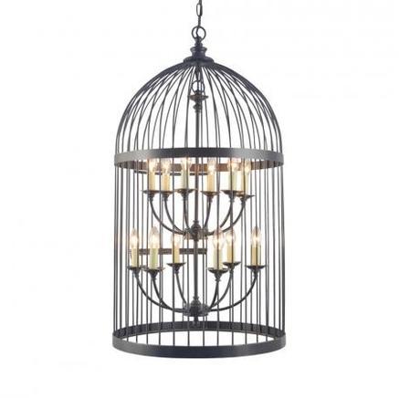 Светильник потолочный LARGE BIRDCAGE CHANDELIER Gramercy Home CH008-12-ABG