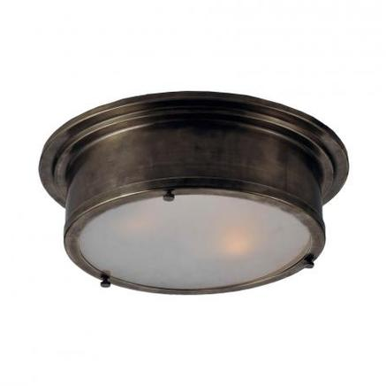 Светильник потолочный INDUSTRIAL ROUND FLUSH MOUNT Gramercy Home CH034-3-ABG