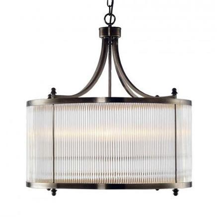 Светильник потолочный GLASS TUBE CHANDELIER Gramercy Home CH032-4-BBZ