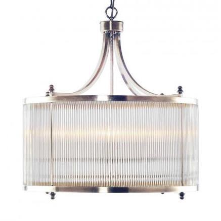 Светильник потолочный GLASS TUBE CHANDELIER Gramercy Home CH032-4-NI