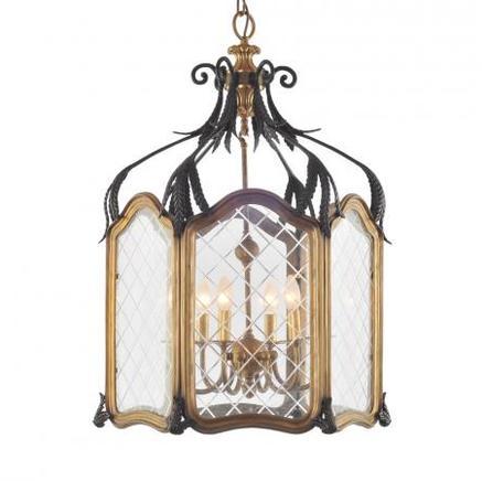 Светильник потолочный VINTAGE LANTERN CHANDELIER Gramercy Home CH044-4-BRS