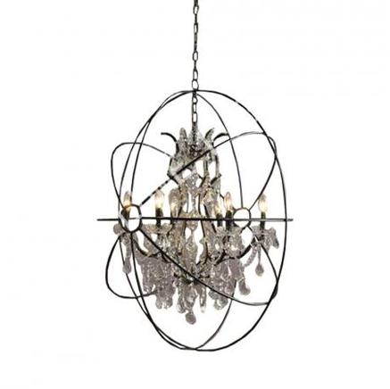 Светильник потолочный IRON OVAL CHANDELIER Gramercy Home CH014-6-ABG