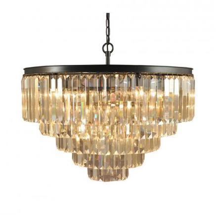 Светильник потолочный ADAMANT 5 RING CHANDELIER Gramercy Home CH015-19-ABG