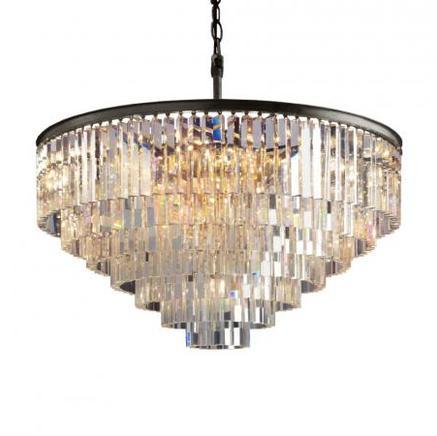 Светильник потолочный ADAMANT 7 RING CHANDELIER Gramercy Home CH015-33-ABG