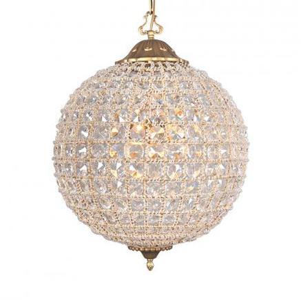 Светильник потолочный ALCAZAR CRYSTAL MEDIUM CHANDELIER Gramercy Home CH054-3-VBN