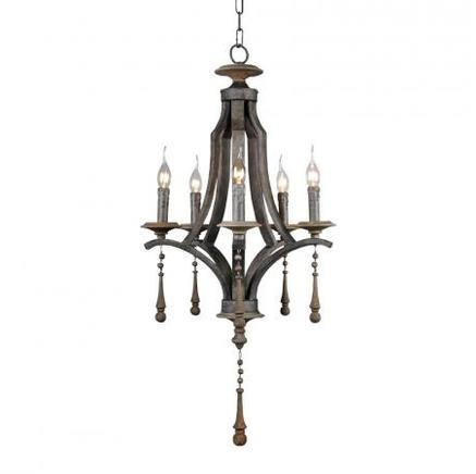 Светильник потолочный GAUTHIER CHANDELIER Gramercy Home CH055-5-ABG