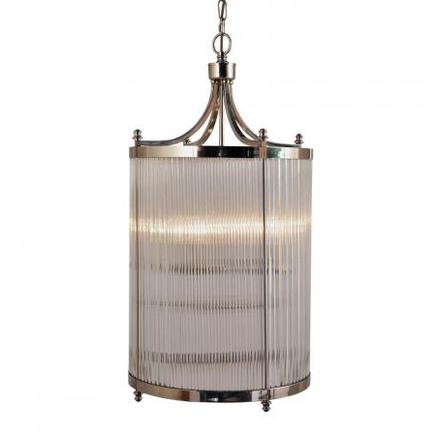 Светильник потолочный GLASS TUBE TALL CHANDELIER Gramercy Home CH032T-4-NI