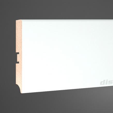 Плинтус МДФ белый SP-decor 100A клей в подарок