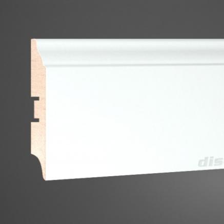 Плинтус напольный белый МДФ L-decor 107-82 клей в подарок
