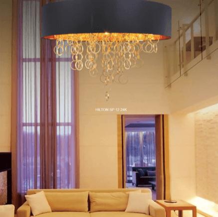 Светильник потолочный Crystal Lux HILTON SP012 ORO 24K