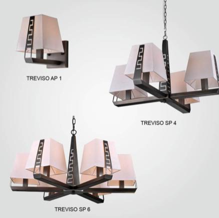 Светильник потолочный Crystal Lux TREVISO SP06