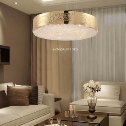 Светильник потолочный Crystal Lux Antinori SP09 ORO