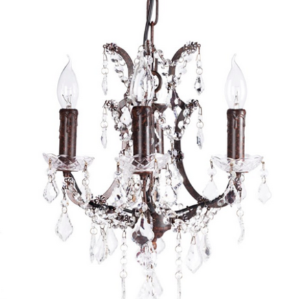 Люстра 19th C. Rococo Iron & Clear Crystal Round DG-Home DG-LL128