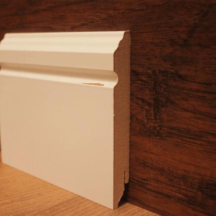 Плинтус МДФ белый TeckWood 10116 клипсы в подарок