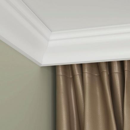 Карниз потолочный под покраску ЛДФ Ultrawood CR 4258 клей в подарок