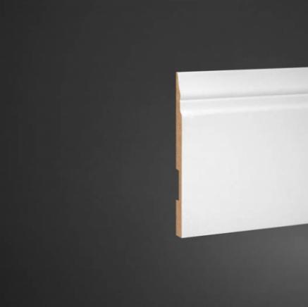 Плинтус высокий под покраску Ultrawood Base 5214 клей/покраска в подарок