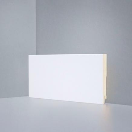 Плинтус белый МДФ SP-decor W06-100. клипсы/клей в подарок
