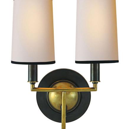 Бра настенное Elkins Double Visual Comfort & Co TOB 2068BZ/HAB-NP