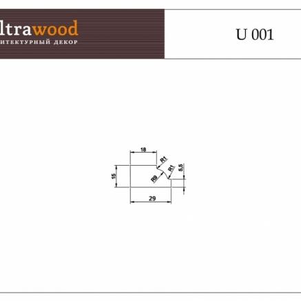 Декоративный молдинг под покраску ЛДФ Ultrawood U 001