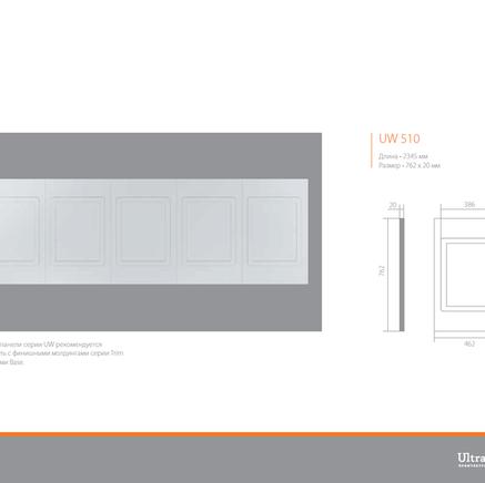 Стеновые панели ЛДФ под покраску Ultrawood Uw 510
