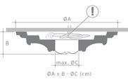 Потолочная розетка из полиуретана Orac Axxent R 16