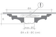 Потолочная розетка из полиуретана Orac Axxent R 24