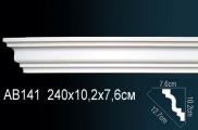 Карниз полиуретановый потолочный Perfect AB 141 клей в подарок