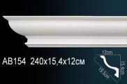 Карниз полиуретановый потолочный Perfect AB 154 клей в подарок