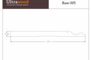 Плинтус высокий напольный  Ultrawood Base 005 покраска по RAL в подарок