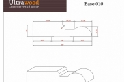 Плинтус широкий напольный  Ultrawood Base 010 покраска по RAL в подарок