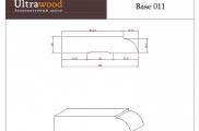 Плинтус широкий под покраску Ultrawood Base 011 покраска по RAL в подарок