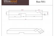 Плинтус высокий под покраску Ultrawood Base 5011 покраска по RAL в подарок
