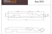 Плинтус высокий напольный Ultrawood Base 5074 покраска по RAL в подарок
