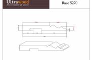 Плинтус высокий под покраску Ultrawood Base 5270 клей в подарок