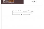 Плинтус потолочный  Ultrawood CR 001 клей в подарок