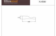 Наличник под покраску ЛДФ Ultrawood N 8500