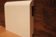 Плинтус МДФ белый TeckWood 10016 клипсы в подарок