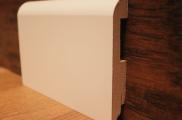 Плинтус МДФ белый TeckWood 12016 клипсы в подарок
