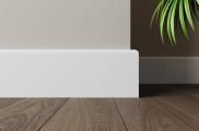 Плинтус МДФ высокий белый L-decor 102-116 клей в подарок