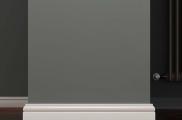 Плинтус МДФ белый L-decor 105-100 клей в подарок